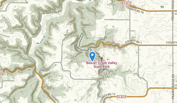 Beaver Creek Valley State Park Map