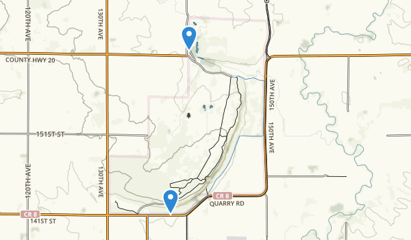 trail locations for Blue Mounds State Park