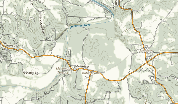 trail locations for Robertsville State Park
