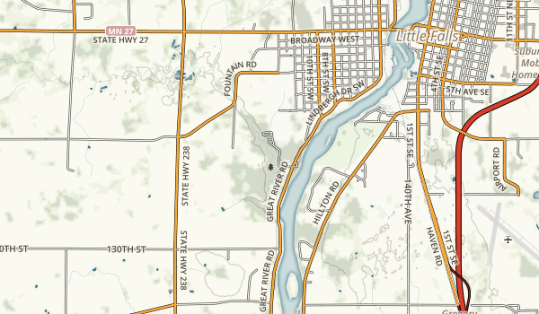 Charles A. Lindbergh State Park Map