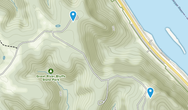 Great River Bluffs State Park Map
