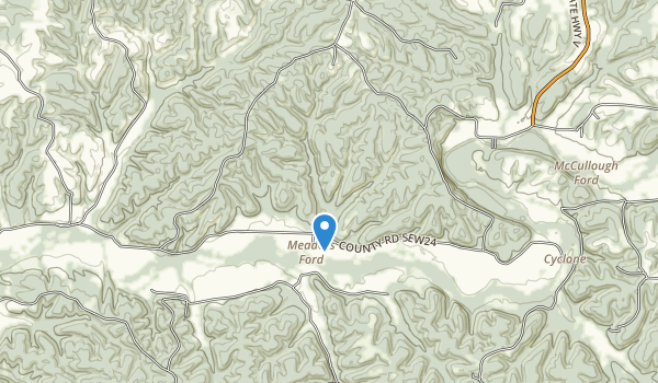 trail locations for Big Sugar Creek State Park