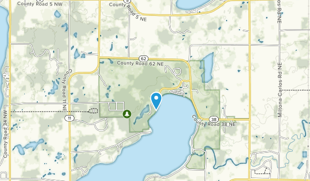 Lake Carlos State Park Map