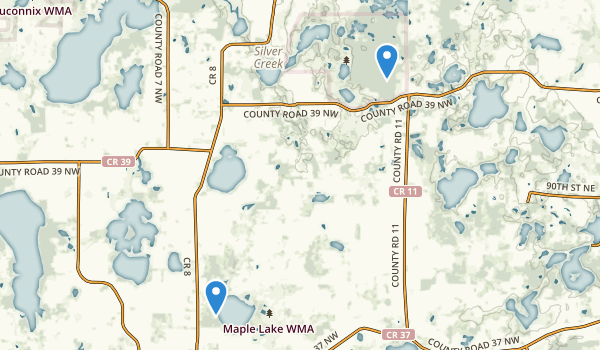 trail locations for Lake Maria State Park