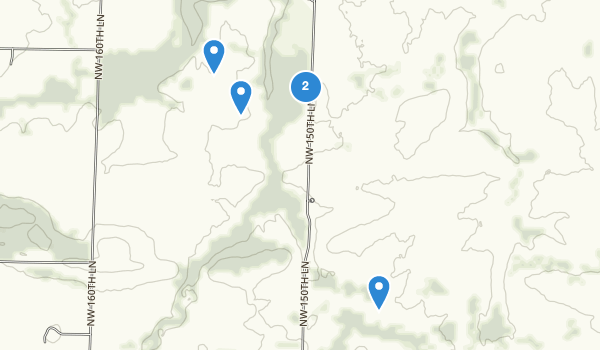 trail locations for Prairie State Park