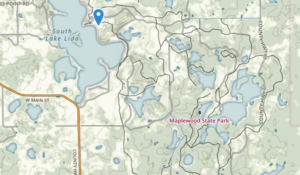 trail locations for Maplewood State Park