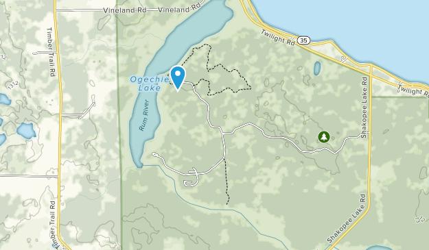 Mille Lacs Kathio State Park Map