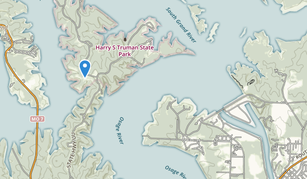 Harry S Truman State Park Map