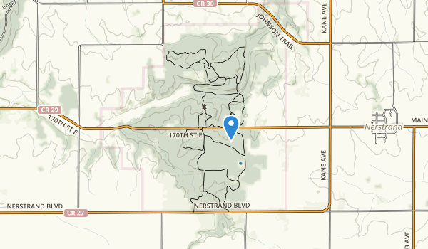 trail locations for Nerstrand-Big Woods State Park