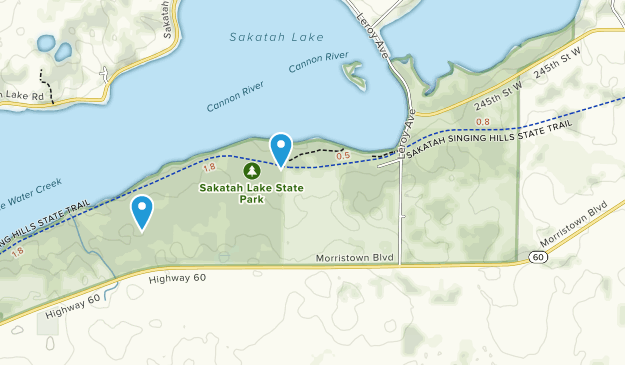 Sakatah Lake State Park Map