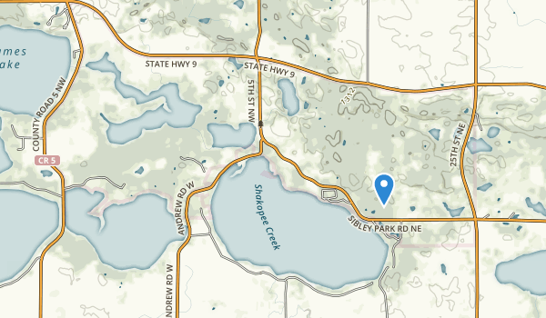 Sibley State Park Map