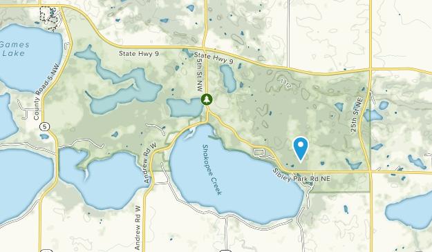 Parque Estatal Sibley Map