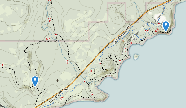 trail locations for Split Rock Lighthouse State Park
