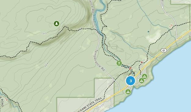 Parque Estatal del Río Temperance Map