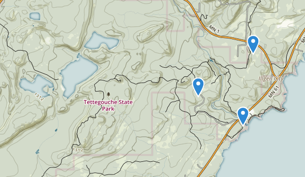 trail locations for Tettegouche State Park