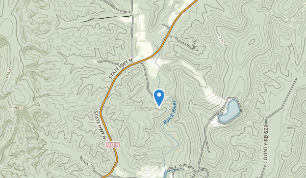 trail locations for Johnson's Shut-Ins State Park