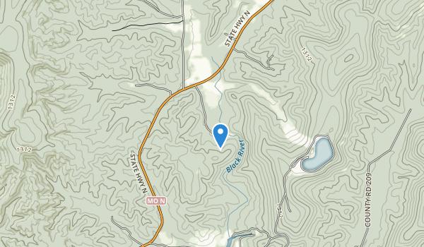 Johnson's Shut-Ins State Park Map