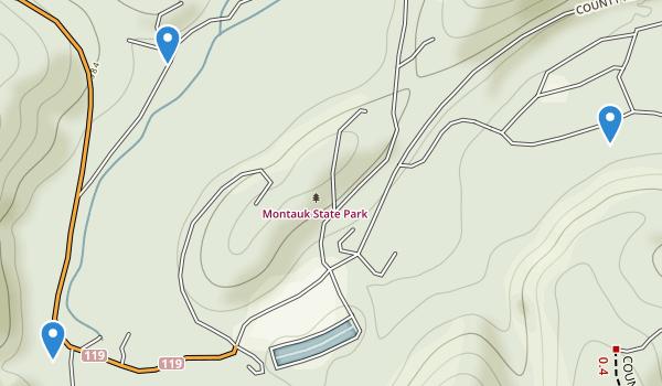 Montauk State Park Map