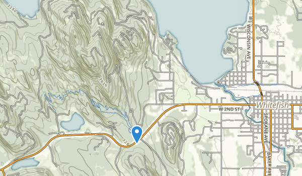 trail locations for Whitefish Lake State Park