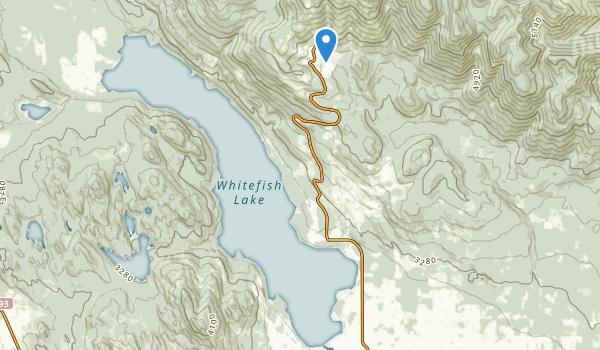 Whitefish Lake State Park Map
