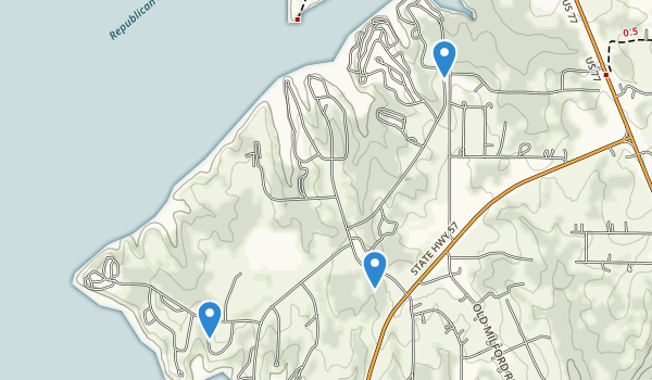 trail locations for Milford State Park