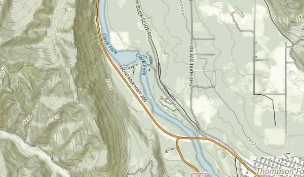 Thompson Falls Map