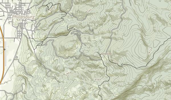Granite Ghost Town Map