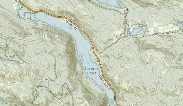 Salmon Lake State Park Map