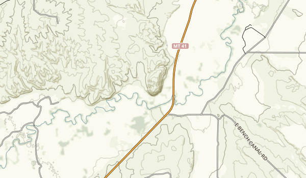 Beaverhead Rock State Park Map