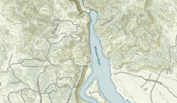 Black Sandy state pake Map