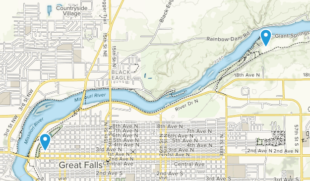 Giant Springs State Park Map