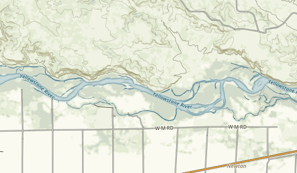 Yellowstone River state pake Map