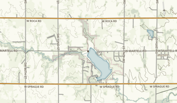 Bluestem State Recreation Area Map