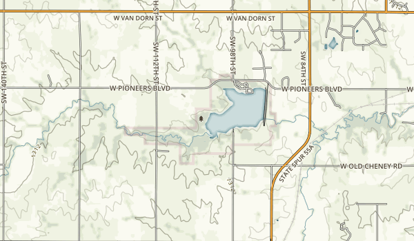 Conestoga State Recreation Area Map
