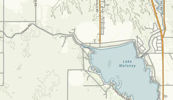 Lake Maloney State Recreation Area Map
