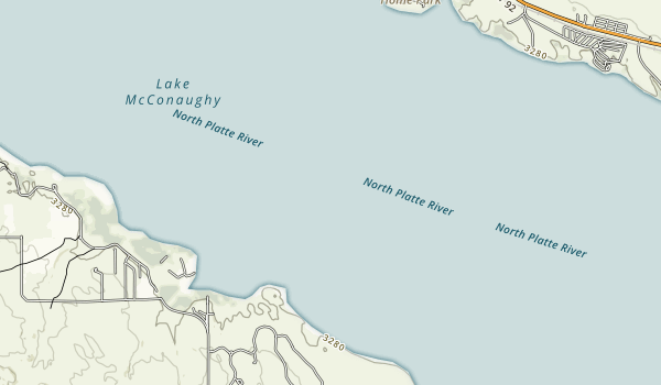 Lake McConaughy State Recreation Area Map