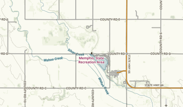 Memphis State Recreation Area Map