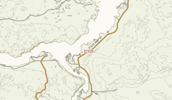 Merritt Reservoir State Recreation Area Map
