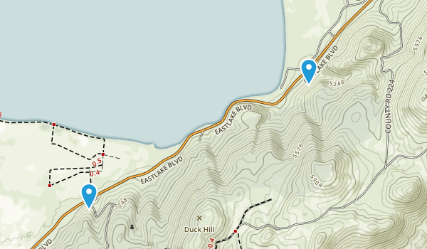 Washoe Lake State Park Map
