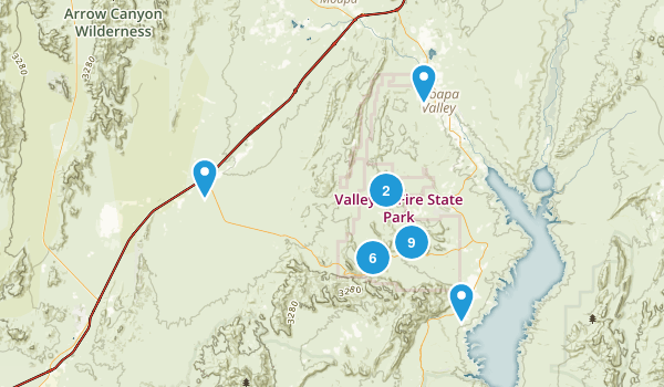 Valley of Fire State Park Map