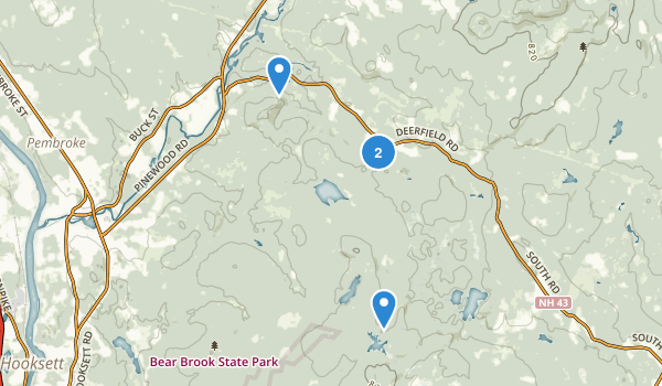 Bear Brook State Park Map