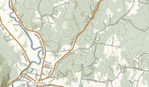 Beaver Brook Falls Wayside Map