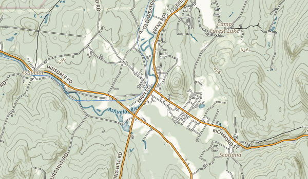 Chesterfield Gorge Natural Area Map