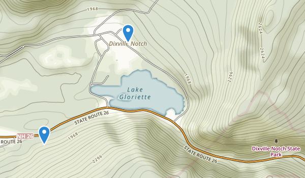 Dixville Notch State Park Map