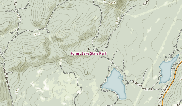 Forest Lake State Park Map
