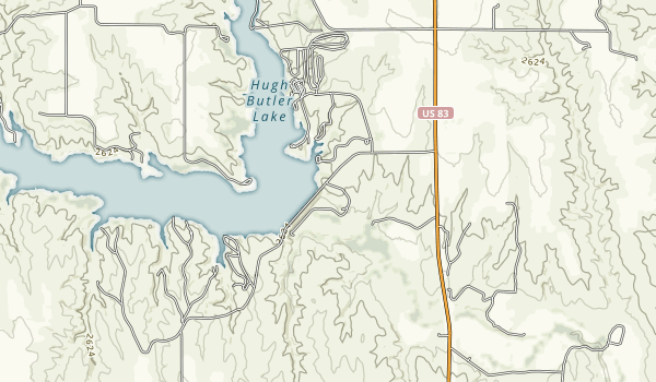 Red Willow Reservoir State Recreation Area Map