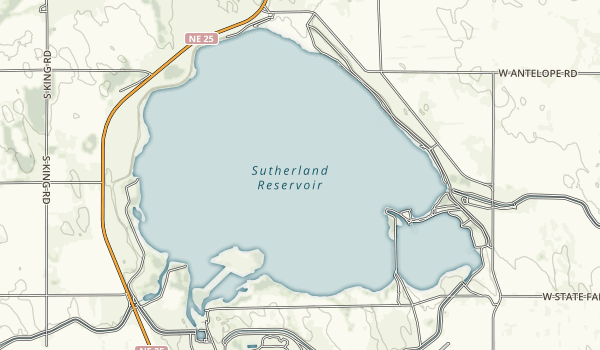 Sutherland Reservoir State Recreation Area Map