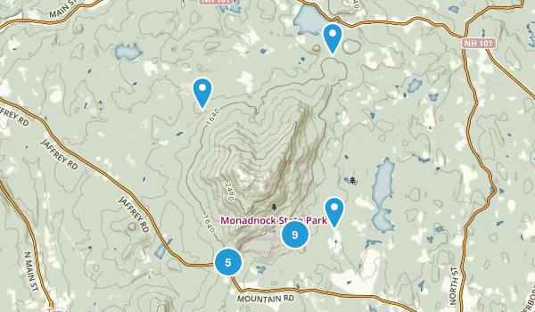 Monadnock State Park Map