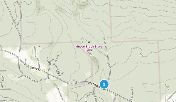 Moose Brook State Park Map