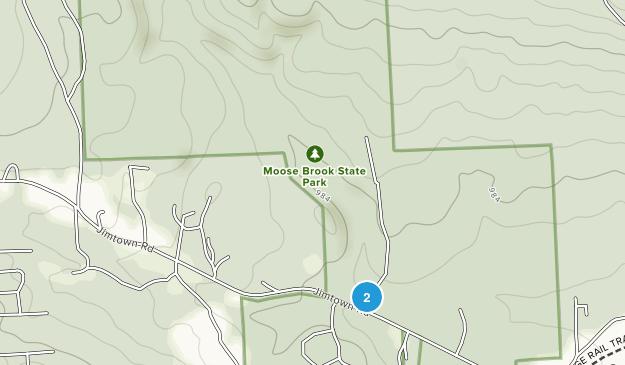 Parque Estatal Moose Brook Map